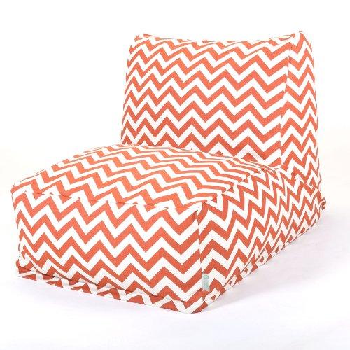 Majestic Home Goods Burnt Orange Zig Zag Bean Bag Chair Lounger front-976628