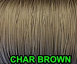 100 YARDS: 1.8 MM Professional Grade Braided Nylon Lift Cord For Blinds and Shades: in CHAR BROWN