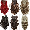 "PRETTYSHOP XL SET 7pcs Full Head 24"" Clip In Hair Extensions Hairpiece Curled Heat-Resisting"