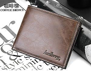 eKingstore Stylish Men Leather Wallet Pocket Money Purse Id Credit Card Clutch Bifold (Y)