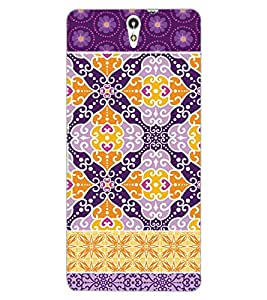 ColourCraft Tribal Pattern Design Back Case Cover for SONY XPERIA C5 ULTRA
