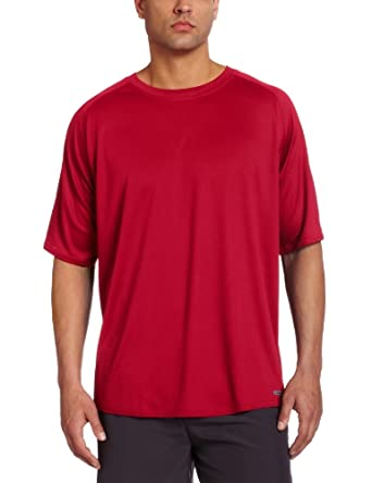Russell Athletic Men's Short Sleeve Dri-Power Tee, True Red, Small