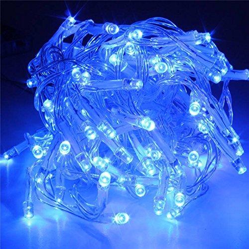SOLMORE 20M 200 LED String Dekorative Strip Lichterkette Weihnachtsbeleuchtung für Weihnachten Party 220V Blau