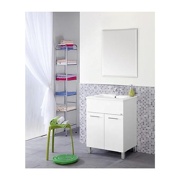 Feridras Mondo Composizione Bagno, Bianco, 46.5 x 61 x 84 cm