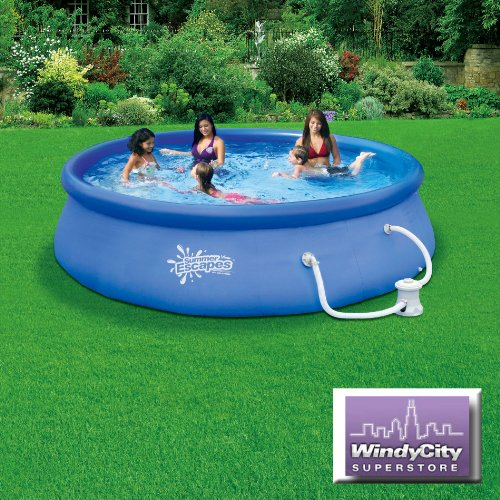 Above ground pool winter cover 12 x 33 summer escapes for Above ground pools quick set