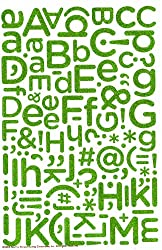 Martha Stewart Crafts Stickers, Peridot Glitter Alphabet