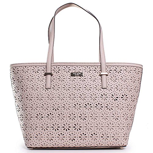 Kate Spade Cedar Street Perforated Small Harmony Tote In Crema De Vie
