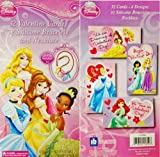 Disney Princess 32 Valentine Card, 32 Bracelets & Necklace