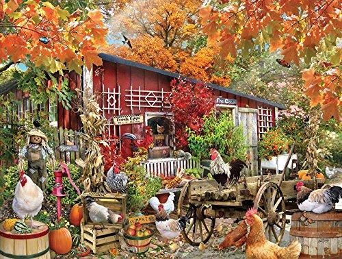 SunsOut Barnyard Chickens Jigsaw Puzzle (500-Piece)