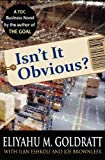 Isn't It Obvious? (0884271927) by Goldratt, Eliyahu M.