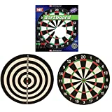 17 Inch Double Sided Dart Board Bullseye Target Game Set 6 Darts
