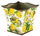 Michel Design Works Decorative Tin Bucket/Planter, Small, Lemon Basil