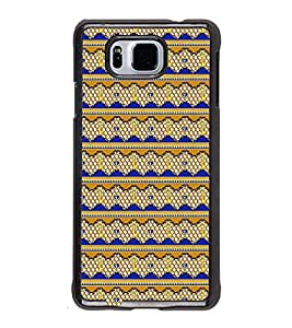 Fuson Premium 2D Back Case Cover Patterened Lock & key design With yellow Background Degined For Samsung Galaxy Alpha G850