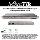 Mikrotik RB1100AHx4 13x Gigabit Port Router, Powered by Annapurna Alpine AL21400 CPU with Four Cortex A15 cores, clocked at 1.4GHz Each, for a Maximum throughput of up to 7.5Gbit