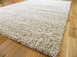 Extra Large Oatmeal Beige Mix Medium Modern Soft Thick Shaggy Rugs Non Shed Runner Mats 160 X 225 Cm Free Uk Mainland Delivery by RUGS 4 HOME