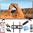 LG 49LF5500 - 49-inch 1080p 60Hz LED HDTV Plus Mount & Hook-Up Bundle - Includes TV, Flat TV Wall Mount, 3 Outlet Surge Protector with USB Ports, 2 x High-Speed HDMI Cable with Ethernet 6 ft, Performance TV/LCD Screen Cleaning Kit, and More