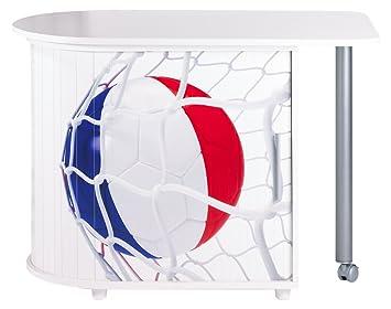 Simmob COOL100BL998 Coppa del Mondo Francia Pallone 998 scrivania girevole in legno, colore: bianco, dimensioni: 55 x 105 x 74,7 cm