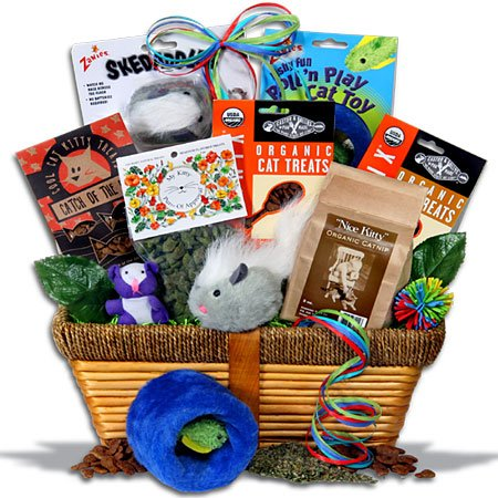 Cat Lover's Gift Basket / Pampered Cat Gift Basket