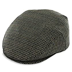 Belfry Croft - Wool Houndstooth Flat Cap (Large)