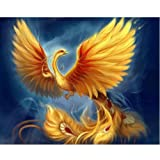 Adarl 5D DIY Diamond Painting Rhinestone Pictures of Crystals Embroidery Kits Arts, Crafts & Sewing Cross Stitch Phoenix 2 (Color: Phoenix 2, Tamaño: 14