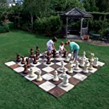 Large Garden Games - Stone Chess Set Board with Pieces