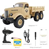 Mikey Store RC Military Truck Off Road JJRC Q60, 1:16, 2.4G, Remote Control 4WD Climbing Car Gift Toy (Yellow) (Color: Yellow, Tamaño: Medium)