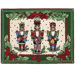 Amazon Com Nutcracker Melody Christmas Wool Hook Area