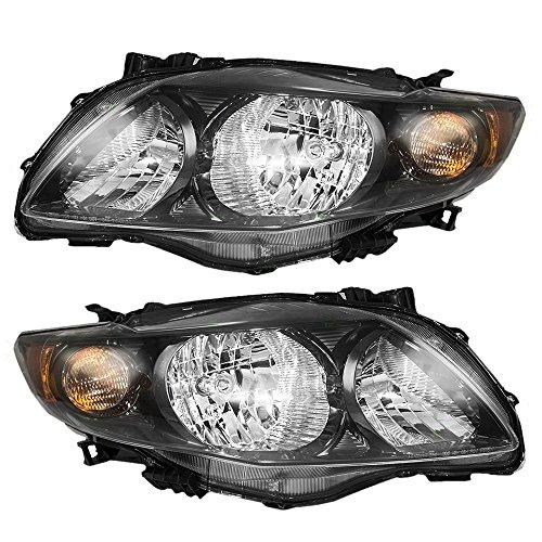Toyota Corolla S, XRS Replacement Headlight Assembly - 1-Pair (2009 Corolla S Headlight Assembly compare prices)