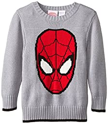 Marvel Little Boys\' Spiderman Boys Sweater, Grey, 3T