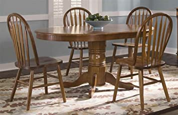5 Pc Oval Dining Table Set