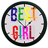 meSleep Best Girl 3D Wall Clock (With Glass)