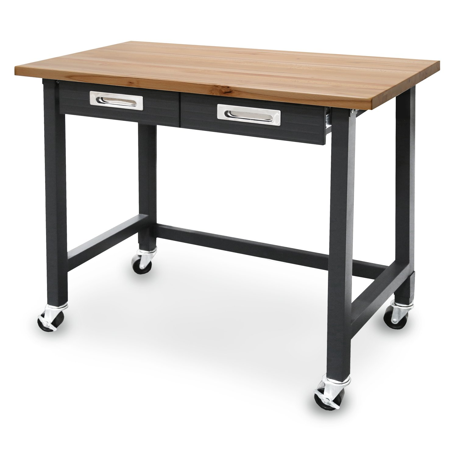 seville classics workbenches lighted table roller movable desk wheels. Black Bedroom Furniture Sets. Home Design Ideas