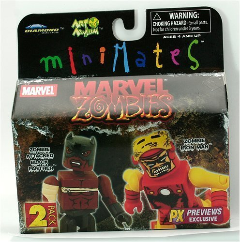 Picture of Diamond Marvel Zombies Minimates PX Previews Exclusive 2Pk Collectible Figures - Black Panther Vs. Iron Man (B001DSJU5O) (Iron Man Action Figures)