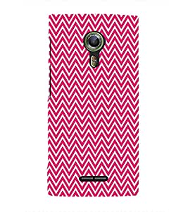 Pink Chevron Glow Cute Fashion 3D Hard Polycarbonate Designer Back Case Cover for Alcatel Flash 2 :: Alcatel Onetouch Flash 2
