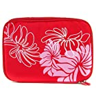 Red Floral Portable DVD Player Bag 9 inch - 10 inch fits Sony DVP-FX730 7-Inch Portable DVD Player