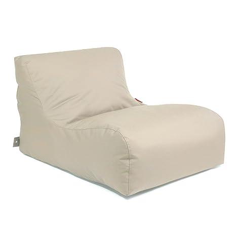 Pushbag Saco de Asiento New Lounge Plus 100% poliéster, 75x 120x 90cm, 500L, plástico, beige, 120x90x75