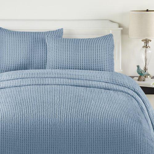 Lamont Home Honeycomb Sham, Standard, Blue front-439880