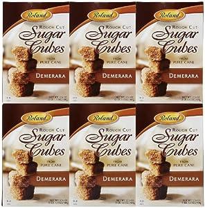 Roland Rough Cut Demerara Sugar Cubes - 17.6 oz