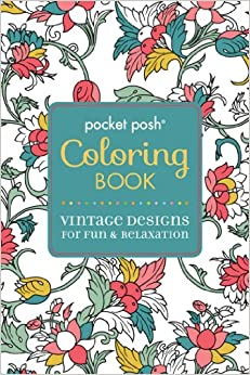 Amazon Pocket Posh Adult Coloring Book Vintage Designs For Fun Amp Relaxation Pocket Posh