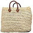 Moroccan Straw Summer Beach / Shopper / Tote Bag 21&quot; X 20&quot;