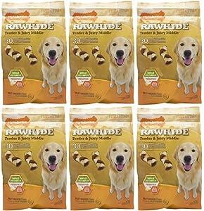 Nylabone Enhanced Rawhide Adult Braid Filet Mignon 180ct 2.5