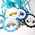 Transportation Favor Tags for Kids Birthday Party - Set of 12
