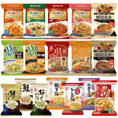 Amano foods freeze-dried original 17 20 food set (small bowl 1 / Teacup size Bowl 3 seed / noodle soup 2 / noodle soup great 2 4 pasta sauce / Curry 2 boiled rice with 3 species)
