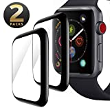 NICEDAYM [2 - Pack] Apple Watch 40mm Screen Protector, Tempered Glass Scratch Resistant Full Coverage Anti-Bubble Film Screen Protector for iWatch 40mm Series 4 (Color: 40-MM)