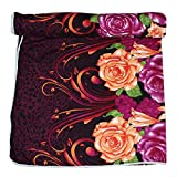 Frabjous Floral Polycotton Single Size Dohar (Purple)