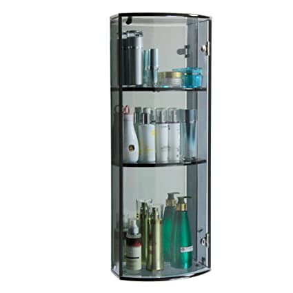 BRIGHT WOOD High Quality And Hot Sale Crystal Glass Storage Shelf Cabinet (B090A2)