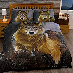 Twilight Wolf Single/US Twin Duvet Cover and Pillowcase Set