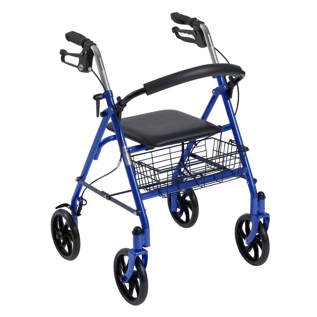 Amazon Com Drive Medical Four Wheel Rollator Walker Blue