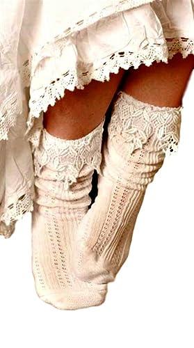 Lace Slouch Scrunch Socks