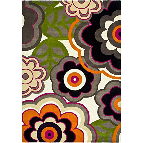 Safavieh Soho Collection SOH752A Handmade Multicolor New Zealand Wool Area Rug, 3.6-Inch by 5.6-Inch